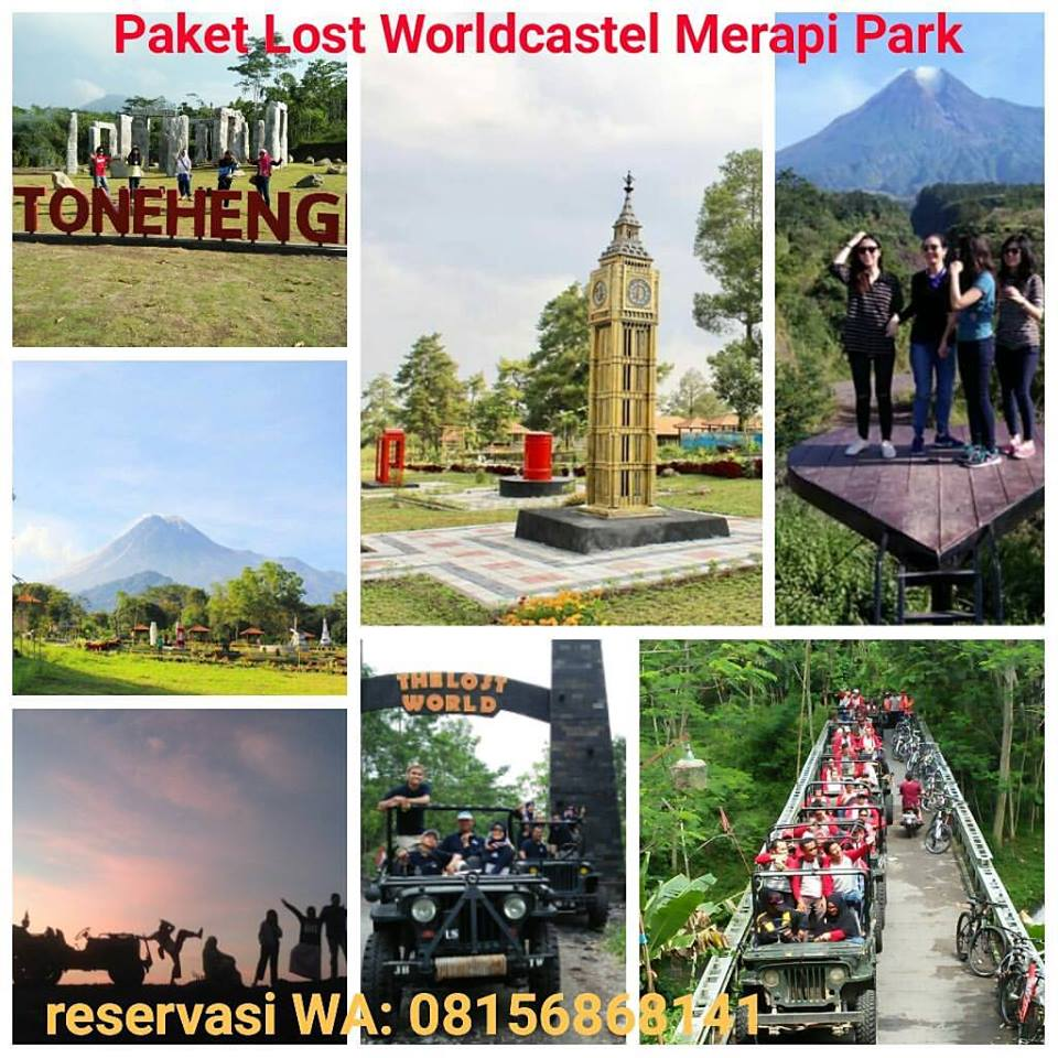 the lost world castel merapi - the world landmark merapi park-stonehenge merapi