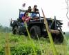 wisata jeep wisata rute pedesaan dilereng merapi